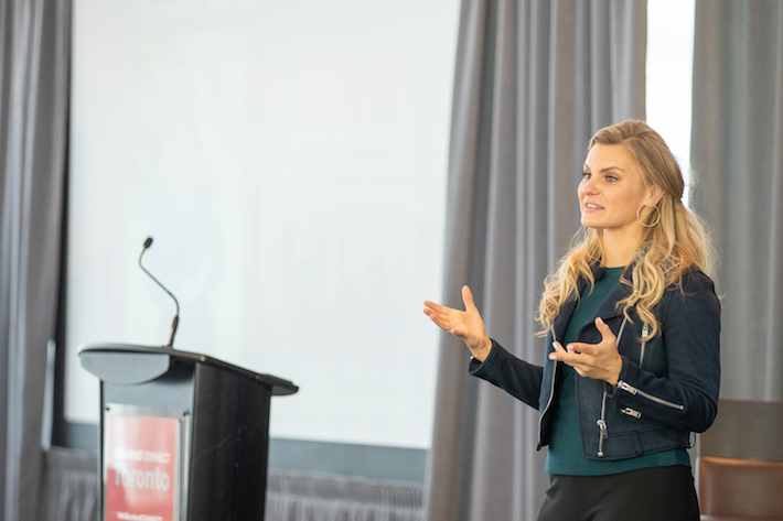 Michele Romanow  speaks at deBanked CONNECT Toronto
