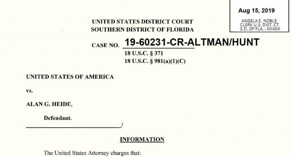 alan heide criminal charges