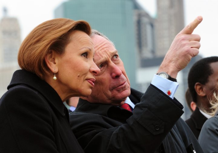 Rep Nydia Velázquez and Michael Bloomberg