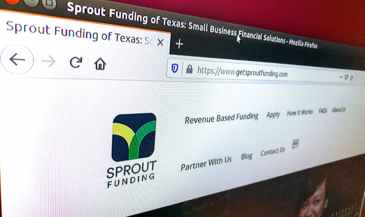 Sprout Funding Homepage