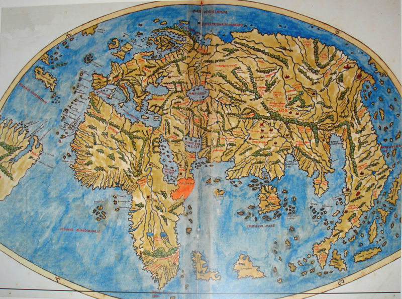 world map in 1520